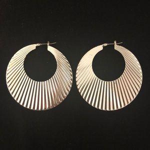 Silver Modern Hoop Earrings